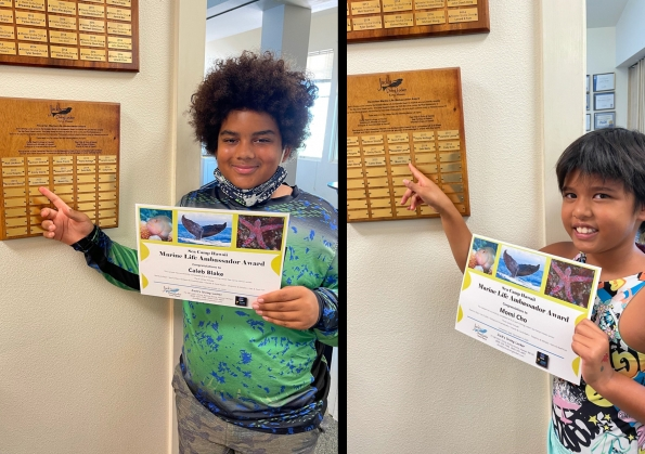 New Marine Life Ambassador Award Recipients