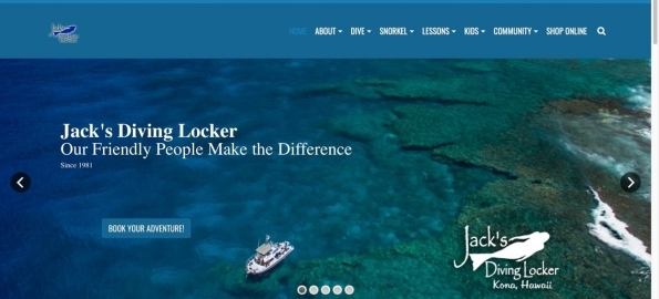 Jack's Diving Locker's *new* Website & Online Store!