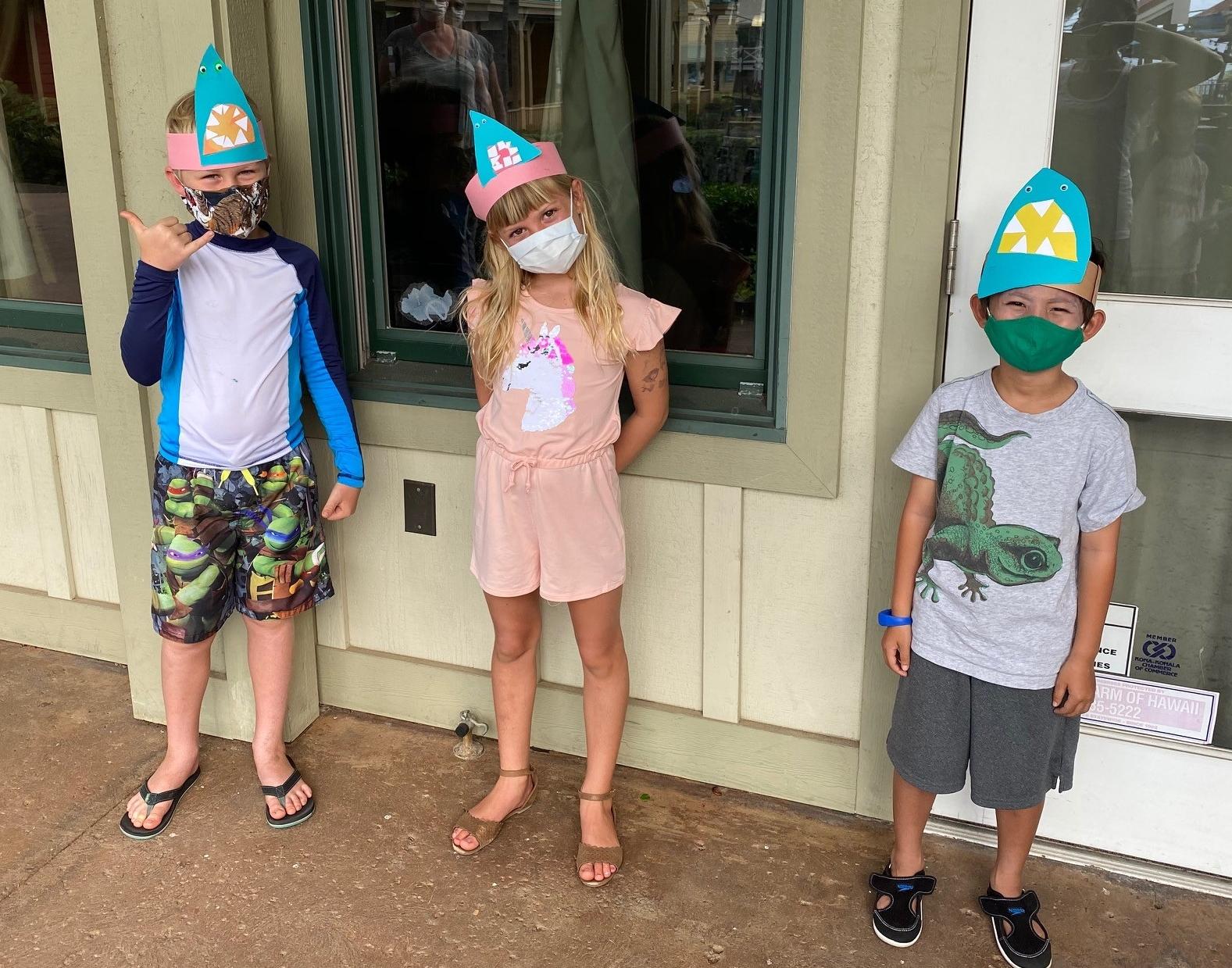 camper shark hats