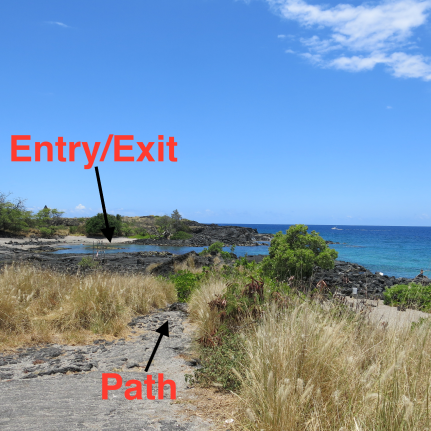Honokohau Shore Dive Path, Kailua Kona, Hawaii